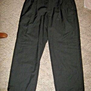 Dark Gray Pleat 4 Pocket Cuff Dress Pants 34 X 29